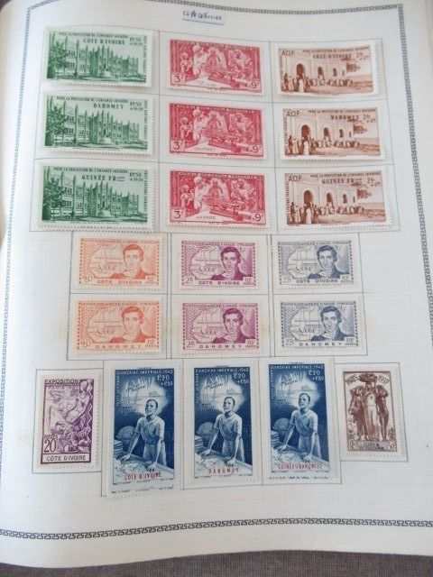 Old French colonies - Collection of large colonial series