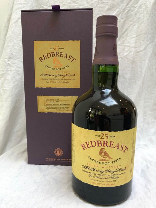 Redbreast 1991 25 years old All Sherry Single Cask for LMDW 60th Anniversary - Original bottling - 70 cl