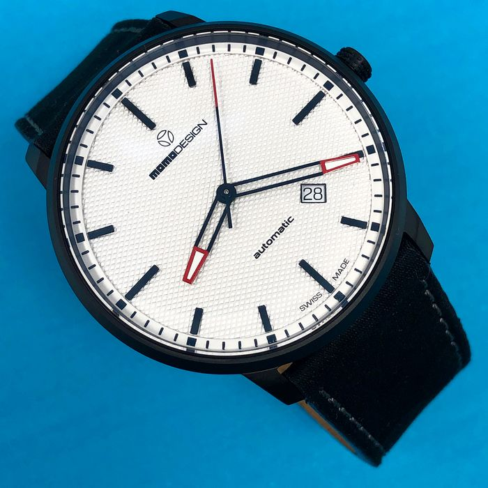 "MomoDesign - Automatic Watch Essenziale White Black PVD Swiss Made - MD6004BK-22 ""NO RESERVE PRICE"" - Hombre - Brand New"