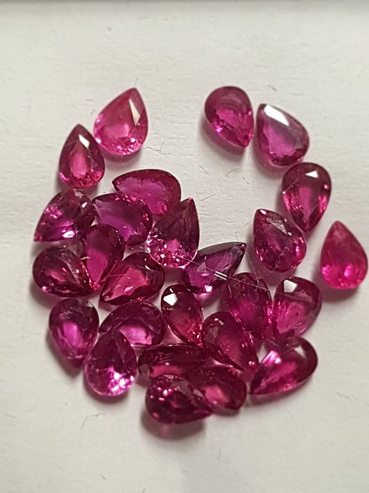 26 pcs Red Ruby - 4.56 ct