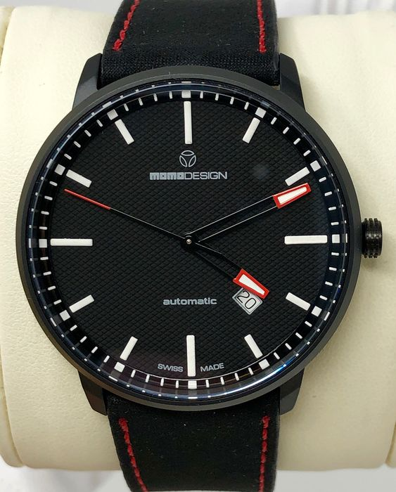 "MomoDesign - Automatic Watch Essenziale Red Tone Black PVD Swiss Made - MD6004BK-12 ""NO RESERVE PRICE"" - Miehet - Brand New"