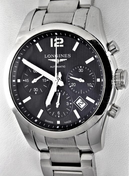 Longines - Conquest Classic Chronograpgh - Swiss Automatic - XL - Ref. No. L2.786.4 - Very Good Condition - Herre - 2017