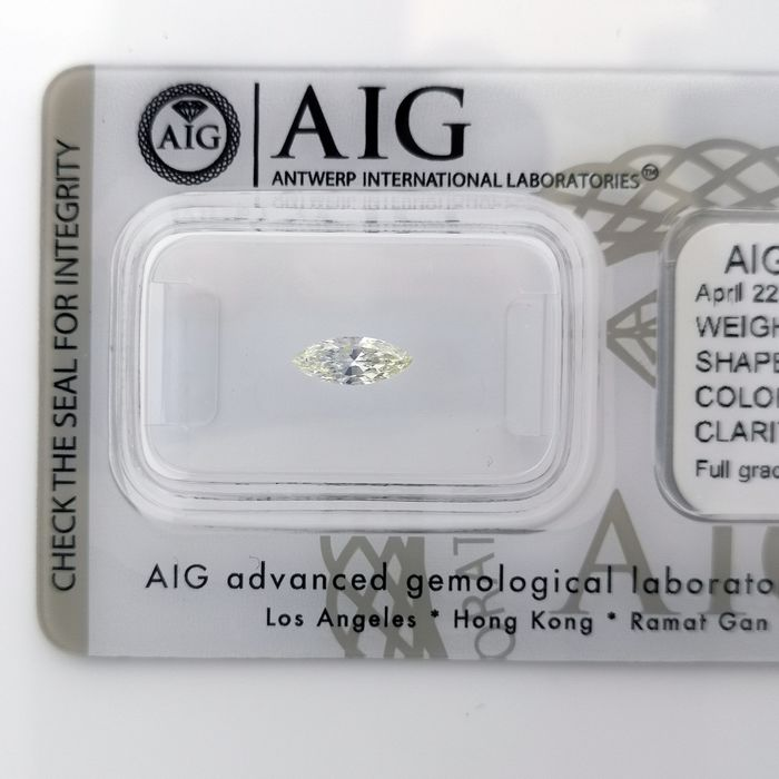 Diamante - 0.27 ct - Brilhante, Marquesa - J - SI1