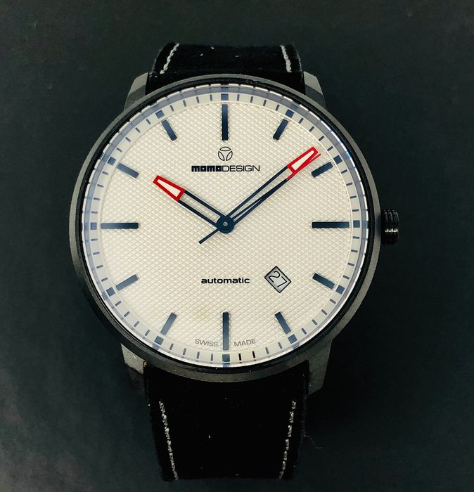 """MomoDesign - Automatic Watch Essenziale White Black PVD Swiss Made - MD6004BK-22 """"NO RESERVE PRICE"""" - Heren - Brand New"""