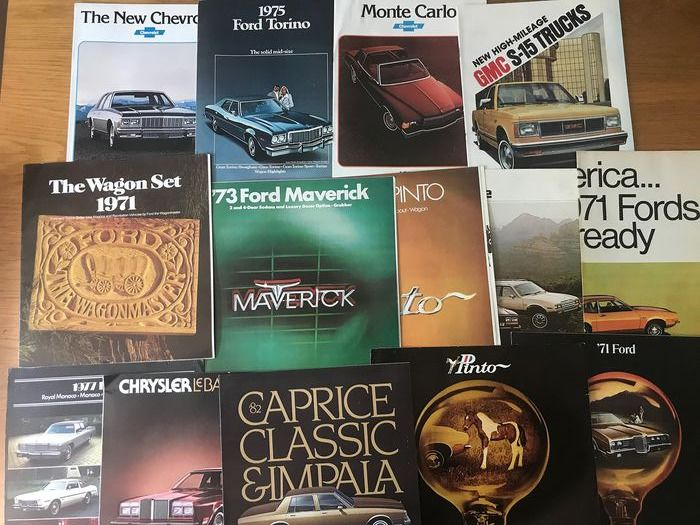 15 x American Car brochures Ford,GMS,Chevrolet,Ddge,AMC - 15 x American Car brochures Ford,GMS,Chevrolet,Ddge,AMC - 1971-1980