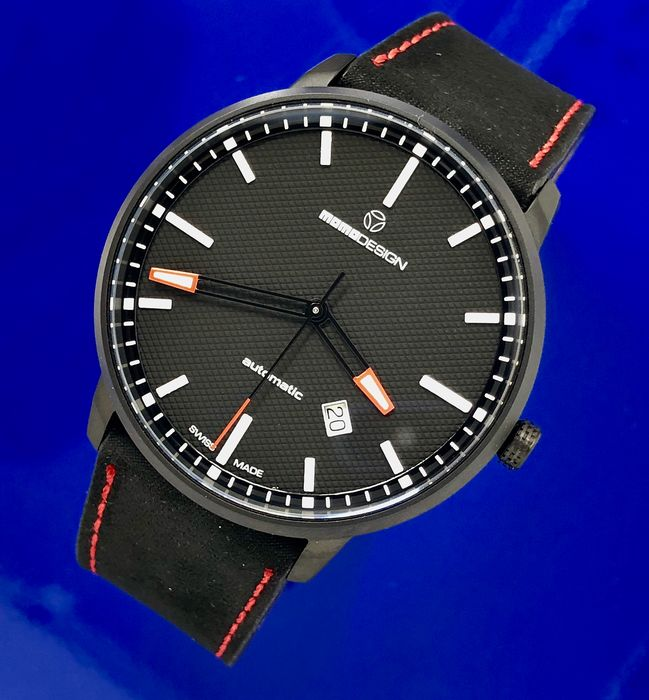 MomoDesign - Automatic Watch Essenziale Red Tone Black PVD Swiss Made - MD6004BK-12 - Heren - Brand New