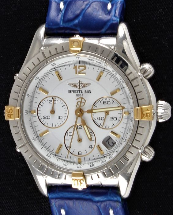 Breitling - CHRONO COCKPIT - Gold/Steel Chronograph - Automatic - Ref. No: B30012 - Very Good - Aftersale - Herre - 1990-1999