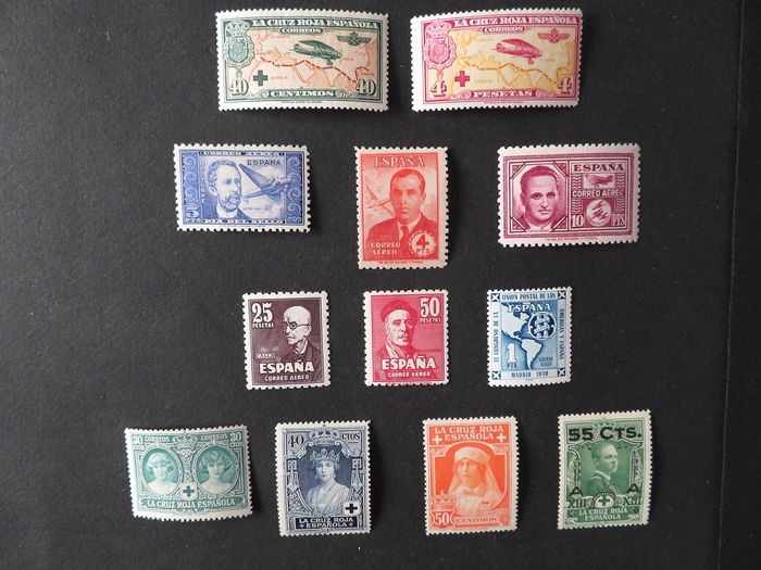 Spanje 1926/1951 - Selection of 12 values - Yvert 2016