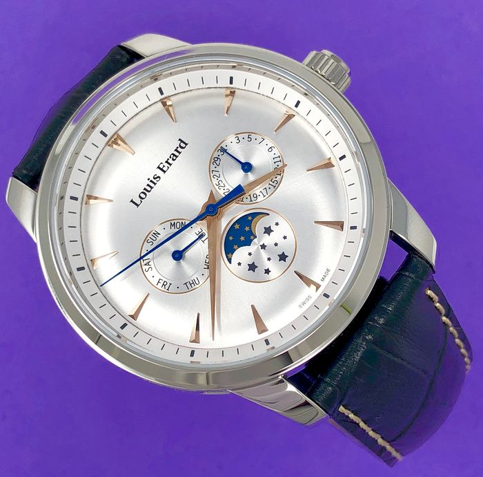 "Louis Erard - Heritage Collection Moon Phase Swiss Made - 14910AA11.BDC100 ""NO RESERVE PRICE"" - Herren - Brand New"