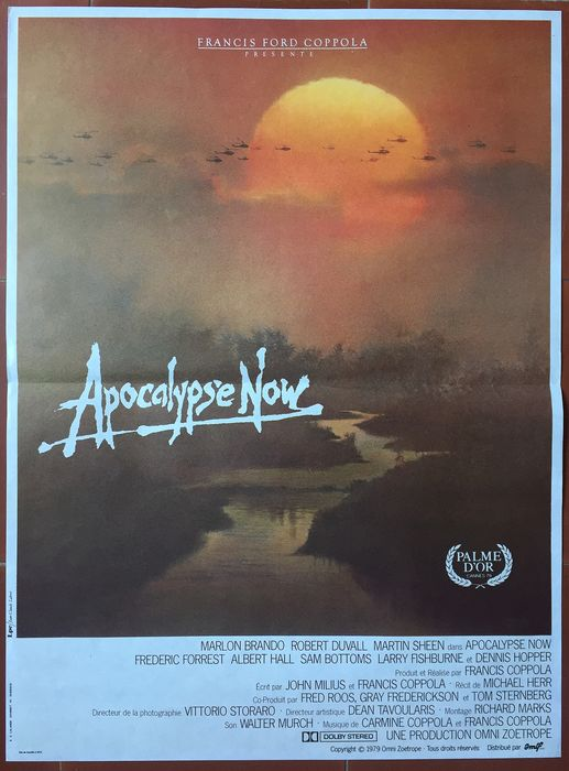 Francis Ford Coppola, Marlon Brando - Affiche Apocalypse now - Original French poster