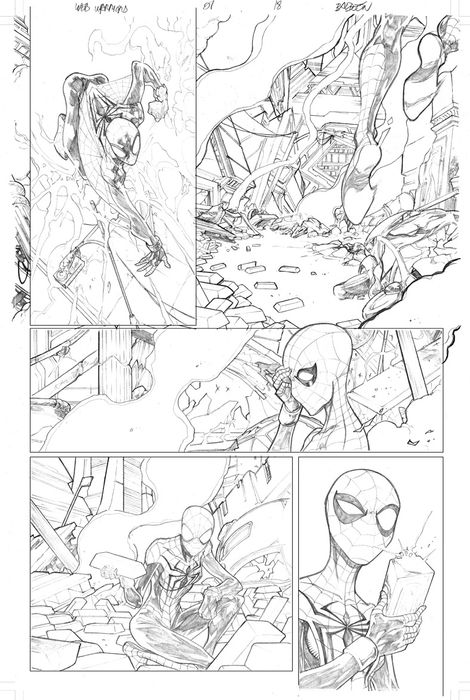 Spiderman, Web-Warriors Issue 01 Page 18 (David Baldeón) Web Warriors 01 18 - Original Artwork  - Page volante - EO - (2015)