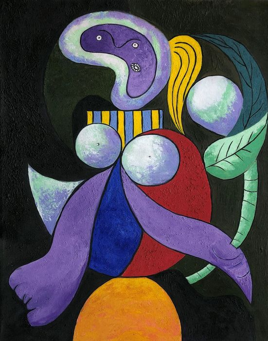 Pablo Picasso (after) - Woman with a Flower