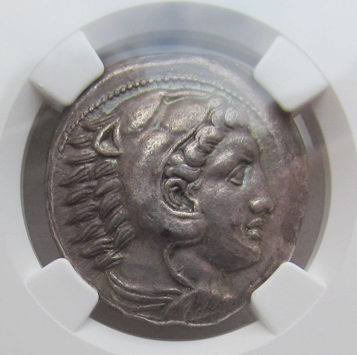Griekenland (oud) - AR tetradrachm, Alexander III - NGC graded Ch XF & Strike 5/5 & Surface 4/5 - 336-323 B.C - lifetime issue tetradrachm, Ex John Whitney Walter Collection - Zilver