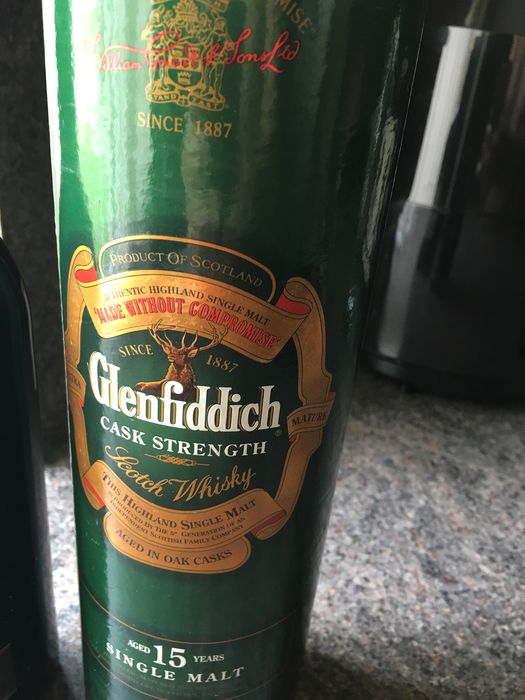 Glenfiddich 15 years old Cask strength - b. 1990s - 70cl
