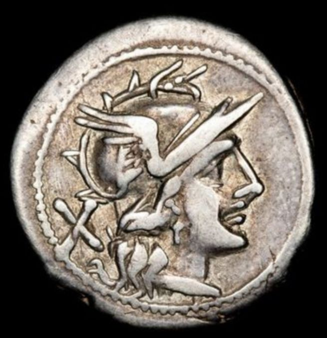 Romeinse Republiek - Anonymous, AR Denarius, Rome, from 211 BC - Zilver