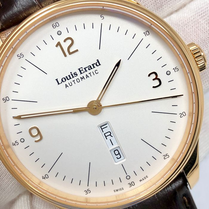 "Louis Erard - Automatic Heritage Collection White Dial Rose Gold - 72288PR11.BARC80 ""NO RESERVE PRICE"" - Heren - Brand New"