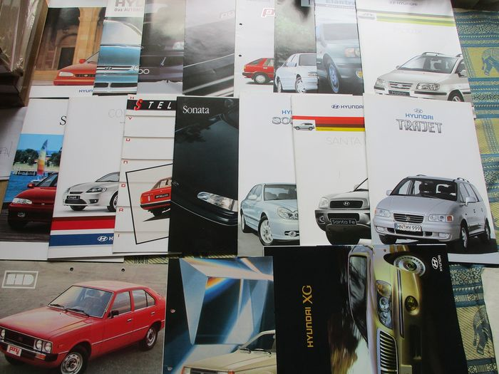 Brochures / catalogues - Hyundai - Zoals Coupe/Trajet/XG/Pony - 1982-2000