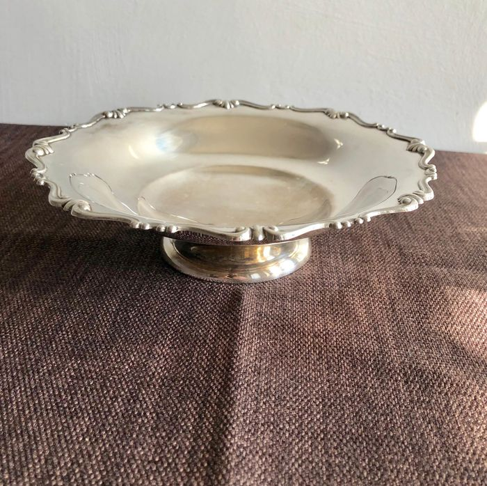 Dish, basket upstand (1) - .800 silver - Italy - mid 20th century