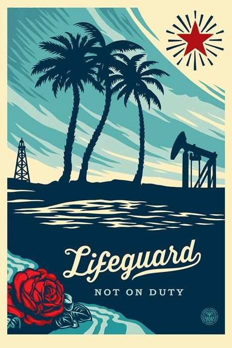 Shepard Fairey (OBEY) - Lifeguard Not on Duty + Bonus