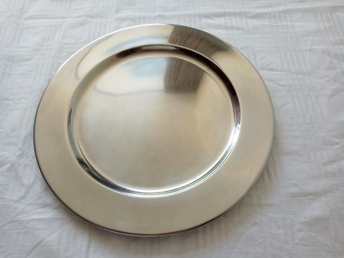 6 stainless steel charger plates - steel (stainless)