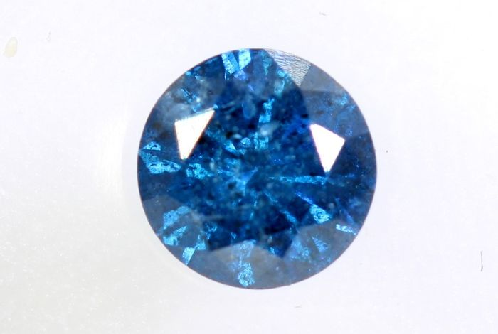 Diamante - 0.42 ct - Brillante - ( Treated Color ) - P2 - * NO RESERVE PRICE *