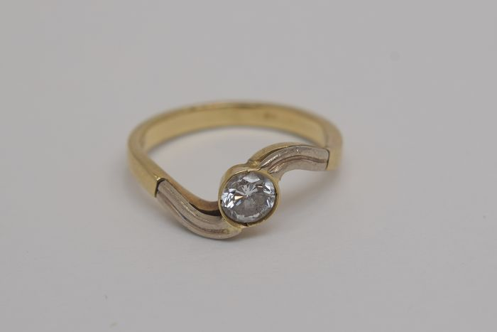 14 kt Gold - Ring - 0.40 ct Diamant