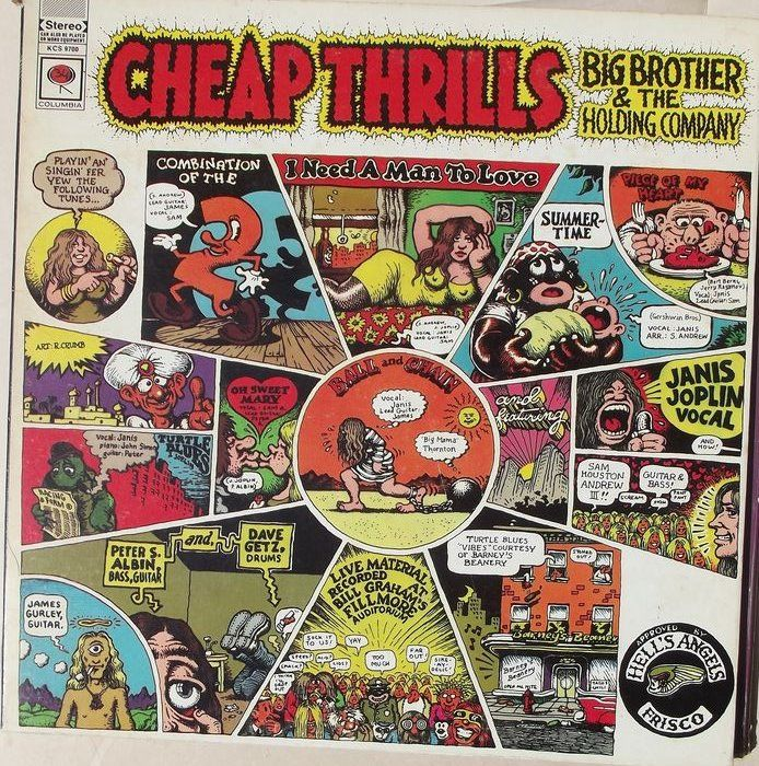 Janis Joplin/ Big Brother & The Holding Company - First lp Big Brother and Cheap Thrills - LP's - 1968/1967