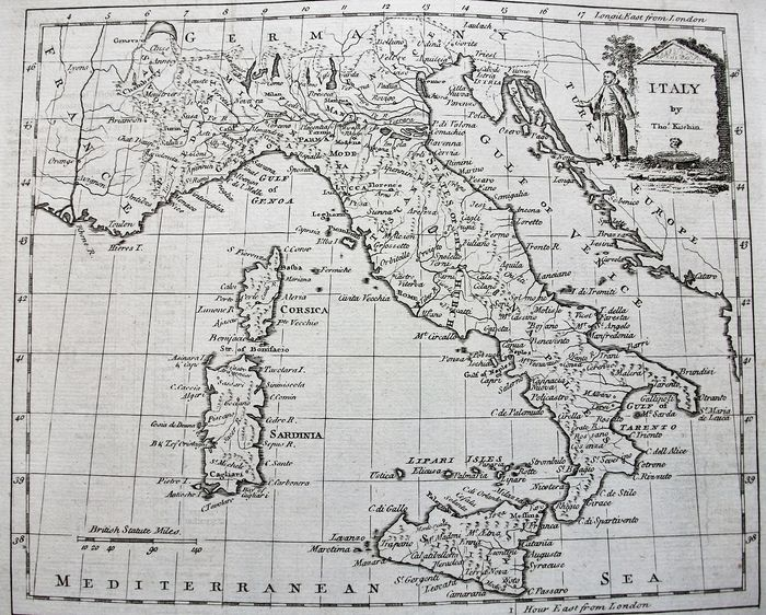 Italia; Thomas Kitchin - Italy - 1761-1780