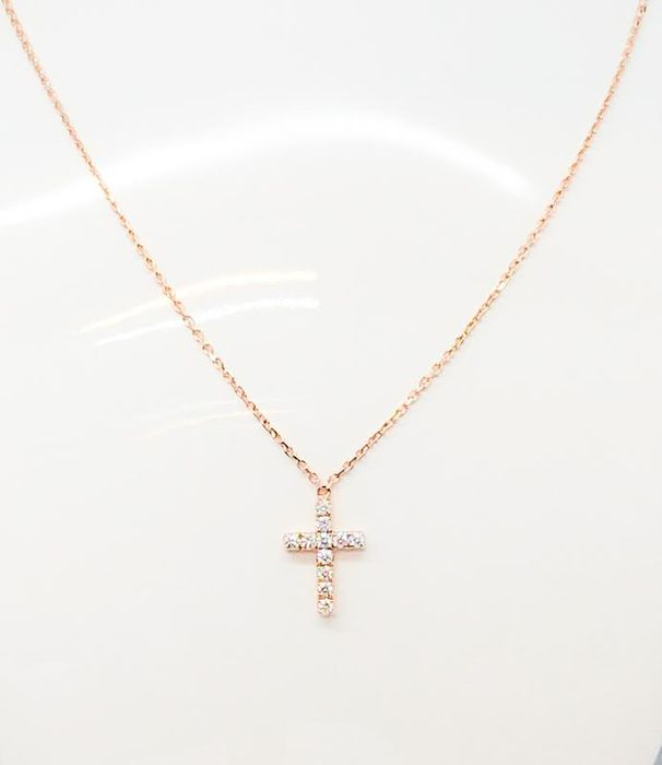 Cartier - 18 karaat Rose Gold - SYMBOLEN KETTING Diamant