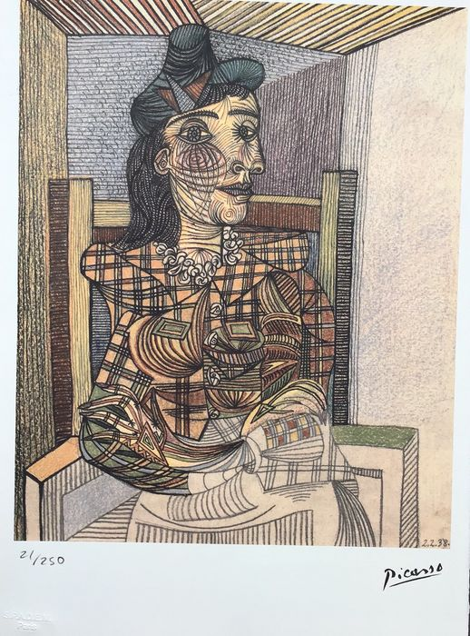 Pablo Picasso  - Femme assise (2.2.38)