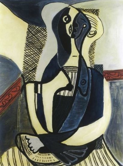 Pablo Picasso (after) - Seated Woman (Femme Assise )
