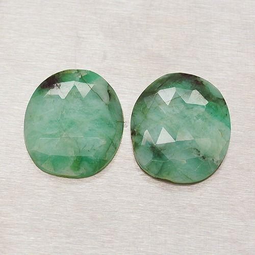 2 pcs  Emerald - 24.30 ct