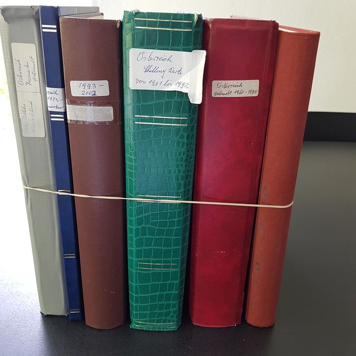 Autriche 1950/2003 - Batch with duplicates in six (three thick) stock books