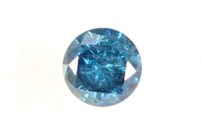 Diamant - 0.41 ct - Brilliant - DEEP blue - * NO RESERVE PRICE *
