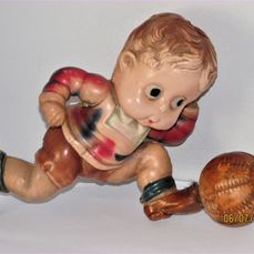 Japanese 1920s - Noisemaker & Rattle Toy-figuur Celluloid English Boy Football Player - Japan
