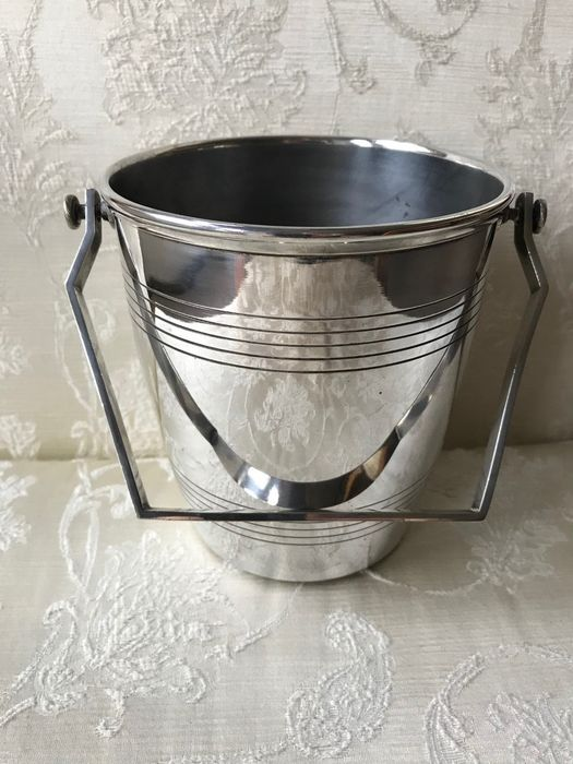 Ice Bucket (1) - Silver plated - Art Deco REX Orbrille Henri Brille - France - Early 20th century