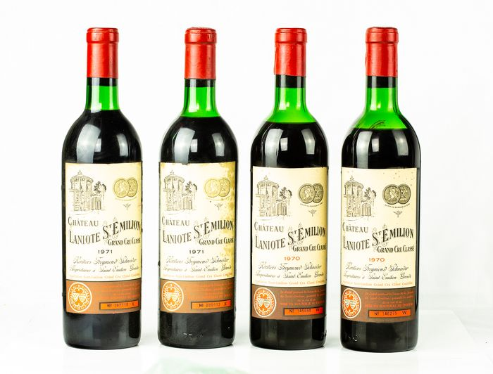 Mixed lot - 1970 & 1971 Château Laniote - Saint-Emilion Grand Cru Classé - 4 Bottles (0.75L)