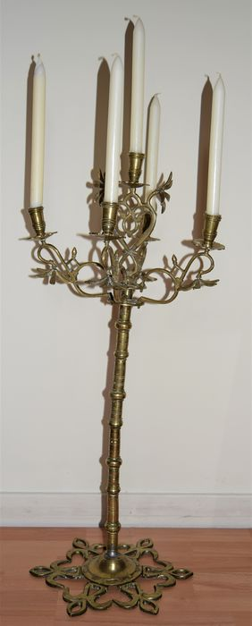 18th century bronze candelabrum - Renaissance - Bronze (patinated) - 18th century