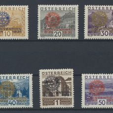 Austria 1931 - Complete Rotary series - ANK 518/23