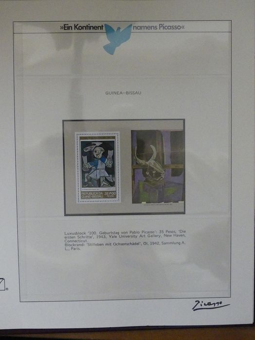 Picasso painting theme - Collection in two special pre