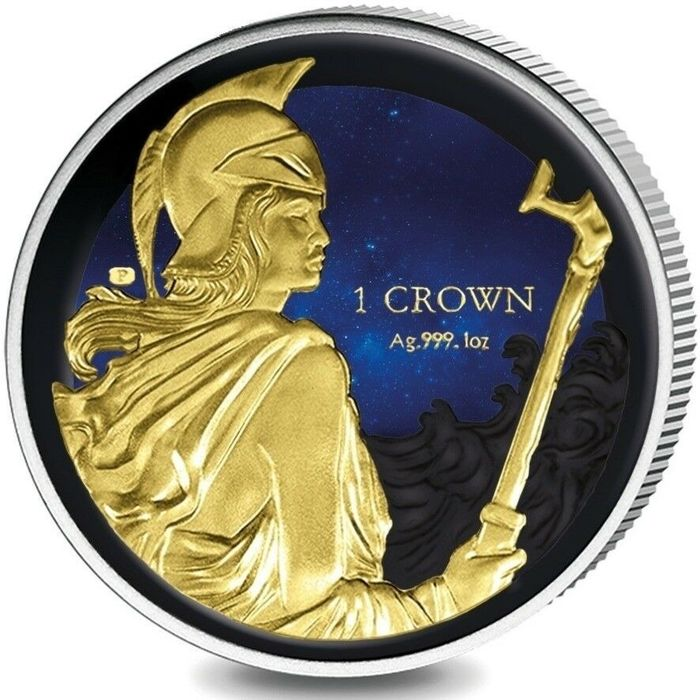British Virgin Islands. 1 Crown 2017  35th Ann of Liberation Colorized  1 oz