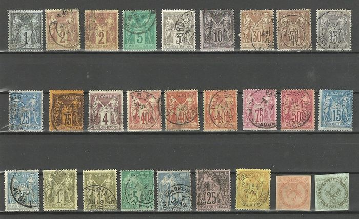 Frankreich - Lot with 241 classics from France