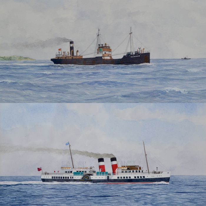 D. J. Mudie (20th century) - The PS Waverley of 1947 and SS Holdernab of 1908