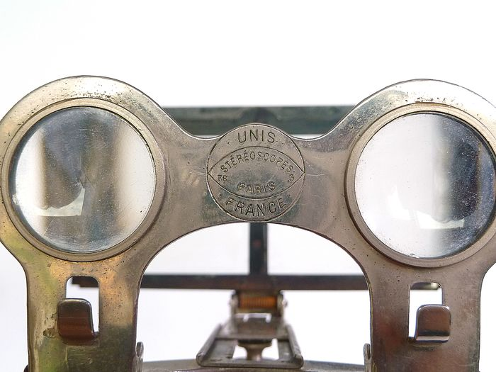 Unis opvouwbare stereoscope, metaal