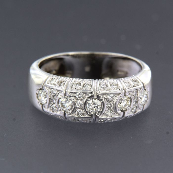18 karaat Witgoud - Ring - 0.65 ct Diamant