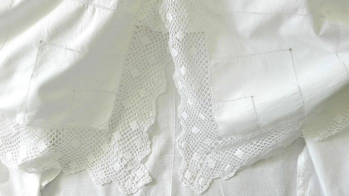 Single sheet, new, very beautiful in antique linen - Linen