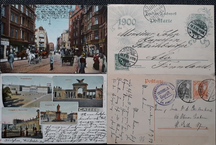 Duitse Rijk 1873/1919 - Compilation of 100 postal stationery items & postcards