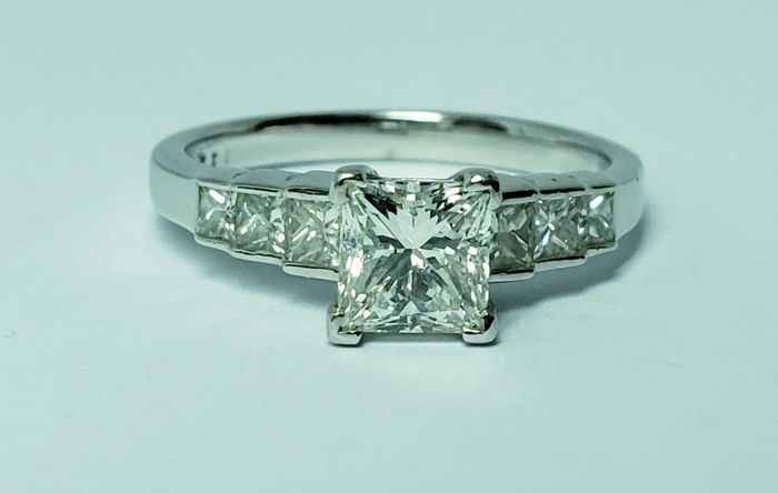 Platinum  Platine - Bague - 1.01 ct Diamant - Diamants