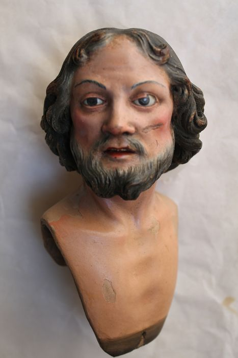 Sculpture, San Rocco (head of) - Wood - First half 18th century