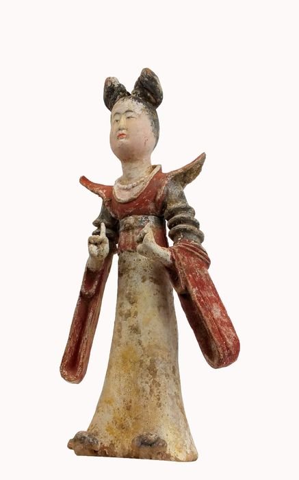Mingqi - Terre cuite - A Fine and Rare Painted Pottery Figure of a Princess, TL test  - Chine - Dynastie Tang (618–907)